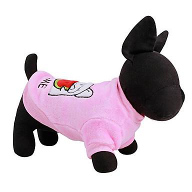 Hund Pullover Hundekleidung Tier Blau Rosa Plüsch Daune Kostüm Für Haustiere Herrn Damen Lässig / Alltäglich