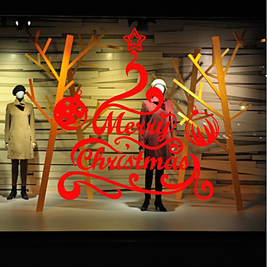 Crăciun Romantic Vacanță Perete Postituri Autocolante perete plane Autocolante de Perete Decorative,Hârtie Material Pagina de decorarede