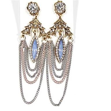 Damen Tropfen-Ohrringe überdimensional Modisch Aleación Blumenform Tropfen Schmuck Für Bühne Festtage Ausgehen