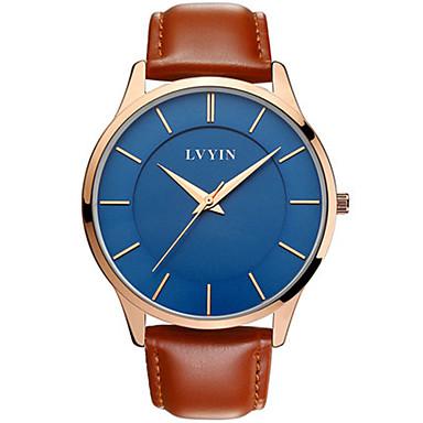 Heren Modieus horloge Kwarts Waterbestendig PU Band Zwart Blauw Bruin