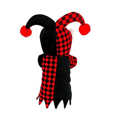 Kat Hond kostuums Hondenkleding Geruit Rood Pluche stof Kostuum Voor huisdieren Heren Dames Cosplay