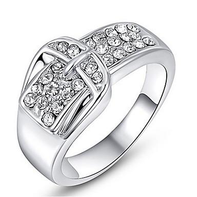Dames Bandringen Kristal Gepersonaliseerde Luxe Klassiek Standaard Sexy Liefde Modieus leuke Style Elegant Legering Geometrische vorm