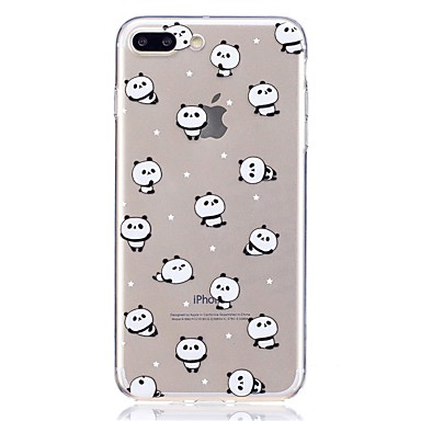 Caz pentru Apple iphone 7 plus 7 model transparent carcasa panda panda moale moale 6s plus 6 plus 6s 6 se 5s 5