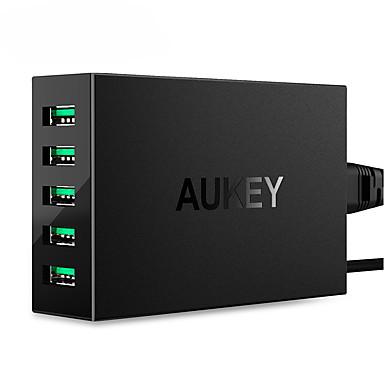 Încărcător USB 5 porturi Stație încărcător de birou Cu identificare inteligentă Priză EU Adaptor de încărcare