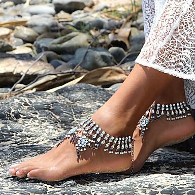 Kadın Ayak bileziği/Bilezikler Kristal İmitasyon İnci Moda Damla Gümüşî Bayanlar Mücevher Için Günlük 1pc