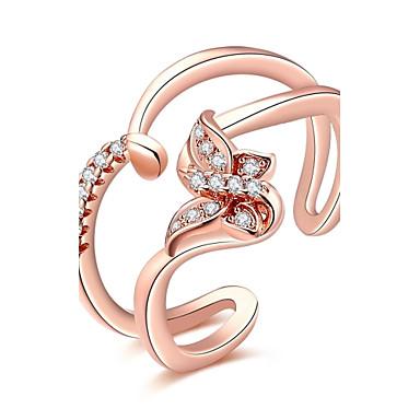 Pentru femei Band Ring Cristal Zirconiu Cubic Argintiu Roz auriu Cristal Zirconiu Zirconiu Cubic Argilă Aliaj Bowknot Shape Geometric