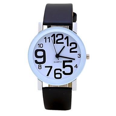 Bărbați Pentru femei Unic Creative ceas Ceas de Mână Ceas La Modă Chineză Quartz PU Bandă Charm Vintage Casual Elegant Negru Alb