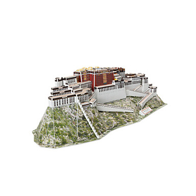 قطع تركيب3D تركيب ألعاب بناء مشهور الزراعة الصينية معمارية 3D مواد تأثيث غير محدد قطع