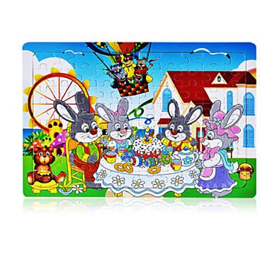 Legpuzzels Legpuzzel Bouw blokken DHZ-speelgoed Rond Rabbit Anderen Vogel Huis Zon Cartoon Ovaal