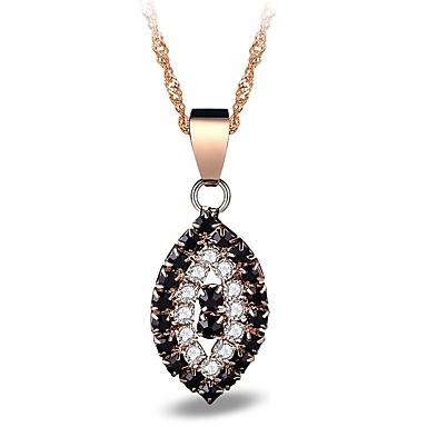 Pentru femei Oval Personalizat Clasic Modă Coliere cu Pandativ Diamant sintetic Aliaj Coliere cu Pandativ . Petrecere Zilnic Serată Scenă