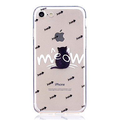 Caz pentru Apple iPhone 7 7 plus coperta case pisica mare transparent tpu material scratchable caz telefon pentru iphone 6s 6 6 plus 6s