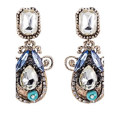 Damen Tropfen-Ohrringe Kristall Kubikzirkonia Basis Hypoallergen nette Art Handgemacht Gothic Luxus-Schmuck Simple Style Klassisch