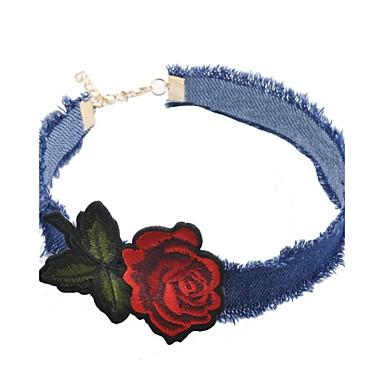Pentru femei Geometric Shape Personalizat Floral Cute Stil Modă Ajustabile Coliere Choker Bijuterii Flanelă Coliere Choker Petrecere Zi