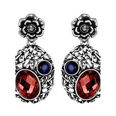 Damen Tropfen-Ohrringe Kubikzirkonia Obsidian Basis Hypoallergen nette Art Handgemacht Gothic Luxus-Schmuck Simple Style Klassisch