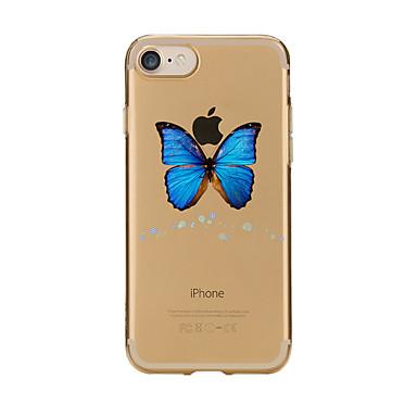 Caz pentru iphone 7 6 fluture tpu soft ultra-subțire spate cover case acoperă iphone 7 plus 6 6s plus se 5s 5 5c 4s 4