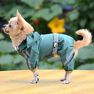 Hond Regenjas Hondenkleding Casual/Dagelijks Effen Geel Rood Groen Kostuum Voor huisdieren