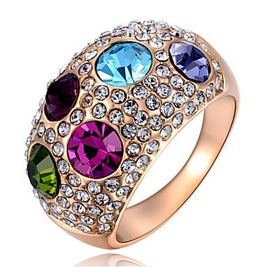 Pentru femei Band Ring Cristal Personalizat Lux Clasic De Bază Sexy Iubire Elegant Cute Stil Modă Cristal Aliaj Rotund Geometric Shape