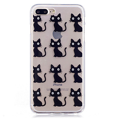 Hülle Für Apple iPhone 7 Plus iPhone 7 IMD Muster Rückseite Anwendung Katze Weich TPU für iPhone 7 Plus iPhone 7 iPhone 6s Plus iPhone 6s