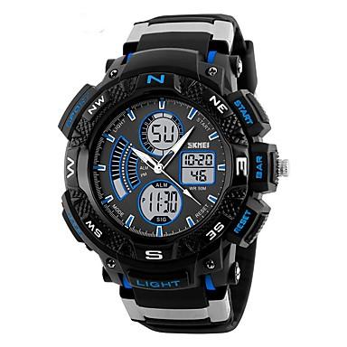 SKMEI Bărbați Ceas de Mână Ceas Sport Japoneză Quartz Calendar Cronograf Rezistent la Apă Iluminat Cronometru Zone Duale de Timp  Cauciuc