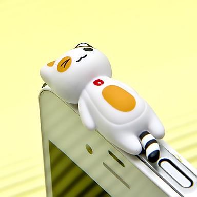 anti-praf plug diy pisică jucărie desen animat ABS abs 3.5mm pentru iphone 8 7 samsung galaxy s8 s7