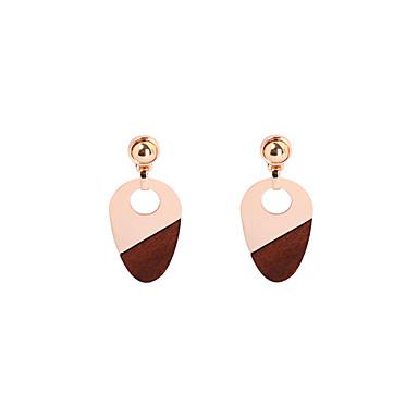 Damen Tropfen-Ohrringe Schmuck Basis Modisch individualisiert vergoldet Holz Ovale Form Schmuck Für Hochzeit Party Sonstiges Alltag Normal