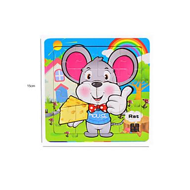 Puzzle Puzzle Lemn Jucării Educaționale Mouse Fruct Other Lemn Anime Desen animat 6 ani și peste
