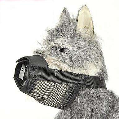 Cachorro Focinheiras Retratável anti Bark Segurança Sólido Náilon Preto