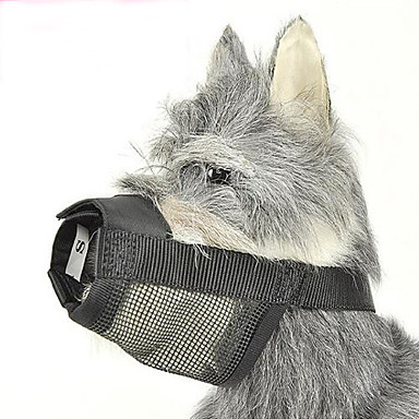 Hund Maulkörbe Regolabile / Einziehbar Anti Bark Sicherheit Solide Nylon Schwarz