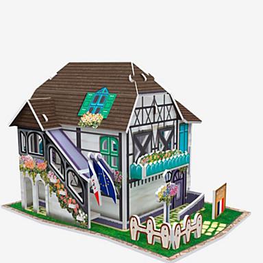 قطع تركيب3D تركيب نموذج الورق بناء مشهور مواد تأثيث اصنع بنفسك الخشب الطبيعي للأطفال للجنسين هدية