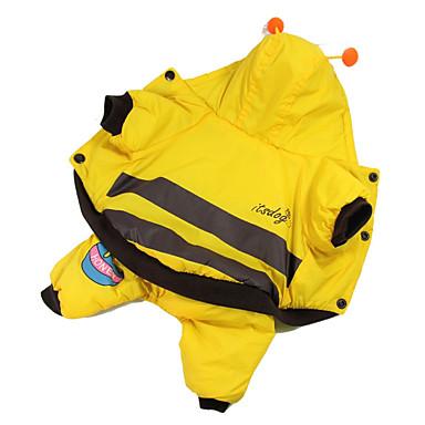 Hund Kostüme Overall Hundekleidung Tier Gelb Baumwolle Daune Kostüm Für Haustiere Herrn Damen Cosplay