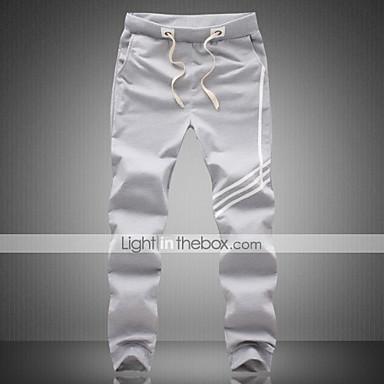 cheap Men's Pants-Men's Basic Athletic Casual Sweatpants Pants - Stripes Sporty Black Gray XXXL XXXXL XXXXXL / Fall