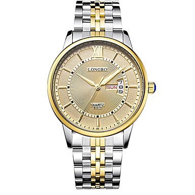 Herrn Sportuhr Kleideruhr Modeuhr Armbanduhr Armband-Uhr Armbanduhren für den Alltag Japanisch Quartz Kalender Wasserdicht Edelstahl Band
