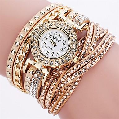 Pentru femei Quartz Ceas Brățară Chineză imitație de diamant PU Bandă Charm Lux Casual Ceas de diamant simulat Unic Watch Creative