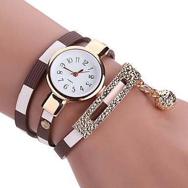 Pentru femei Ceas La Modă Ceas Brățară Unic Creative ceas Chineză Quartz imitație de diamant PU Bandă Charm Casual Boem Elegant Negru Alb
