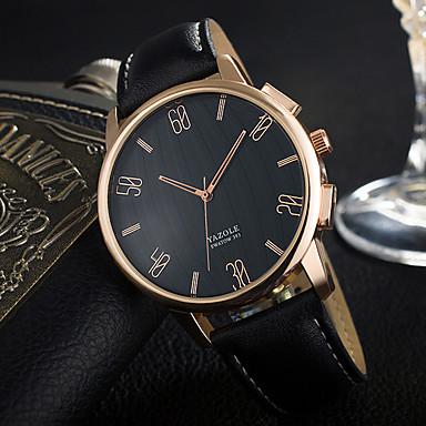 YAZOLE Bărbați Ceas La Modă Ceas de Mână Unic Creative ceas Quartz PU Bandă Cool Casual Luxos Elegant Negru Maro