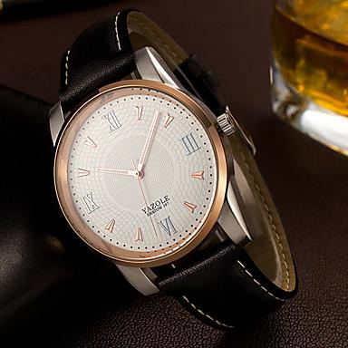 YAZOLE Bărbați Unic Creative ceas Ceas de Mână Ceas La Modă Quartz cald Vânzare PU Bandă Lux Casual Elegant Cool Negru Maro
