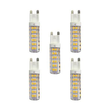 5pcs 4.5W 360 lm G9 Becuri LED Bi-pin T 76 led-uri SMD 2835 Alb Cald Alb AC 220-240V