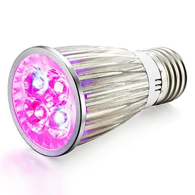 1pc Growing Light Bulb 800 lm E14 GU10 E27 4 LED Beads High Power LED Red  Blue 85-265 V / 1 pc / RoHS / CCC