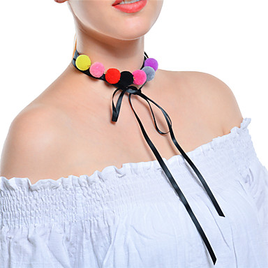 Women's Layered Choker Necklace / Collar Necklace - Bowknot Multi Layer Black Necklace Jewelry For Party, Daily
