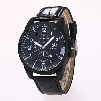 Bărbați Ceas Elegant Ceas La Modă Ceas de Mână Chineză Quartz PU Bandă Casual Negru Maro