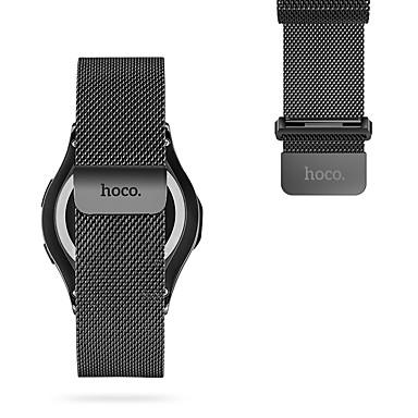 faixa de relógio hoco para engrenagem s3 fronteira / engrenagem s3 clássico samsung galaxy milanese laço pulseira de aço inoxidável