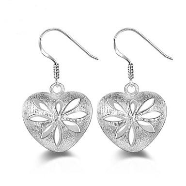 Pentru femei Bijuterii Cercei Stud - Plastic Inimă Argintiu / Hipoalergenic / Hipoalergenic