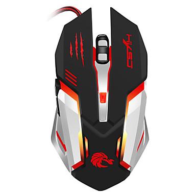 S100 Проводное Gaming Mouse DPI Регулируемая Подсветка 1200 / 1600 / 2400 / 3200/5500