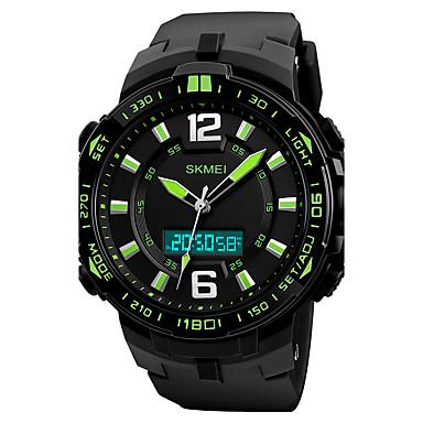 levne Pánské-SKMEI Pánské Sportovní hodinky Vojenské hodinky Náramkové hodinky japonština Křemenný Z umělé kůže Černá 50 m Voděodolné Alarm Kalendář Analog - Digitál Luxus - Žlutá Zelená Modrá / Chronograf