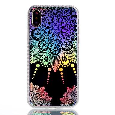 Pentru iPhone X iPhone 8 Plus Carcase Huse Placare IMD Model Carcasă Spate Maska Mandala dantelă de imprimare Moale TPU pentru Apple