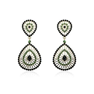 Pentru femei Cercei Picătură Diamant sintetic Vintage stil minimalist Ștras Aliaj Geometric Shape Bijuterii Pentru Crăciun Club