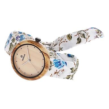 Pentru femei Ceas La Modă Ceas Lemn Japoneză Quartz de lemn Material Bandă Charm Casual Elegant Alb Albastru