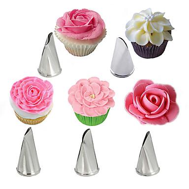 5pcs petală de trandafir din oțel inoxidabil cremă sfaturi tort glazură duze pipi cupcake patiserie instrumente de decorare