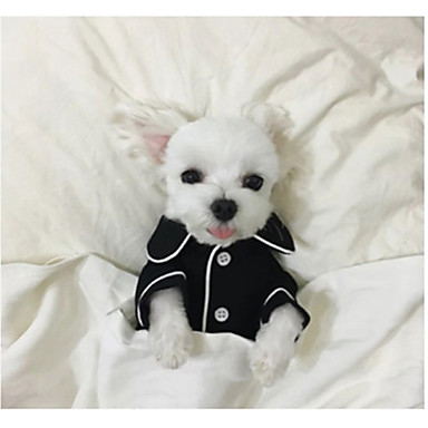 cheap Dog Clothing & Accessories-Dog Pajamas Dog Clothes British Black Pink Light Blue Silk Costume For Spring &  Fall Winter Men's Women's Casual / Daily