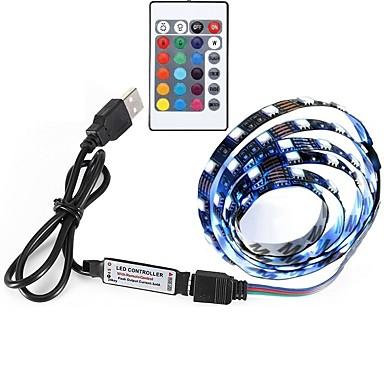 30 светодиоды RGB Пульт управления Можно резать Меняет цвета Самоклеющиеся DC Powered USB